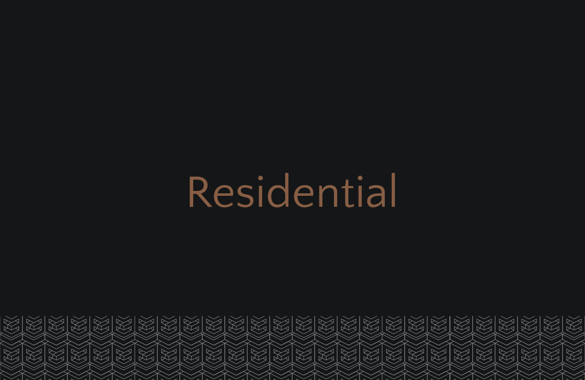 Categories Residential